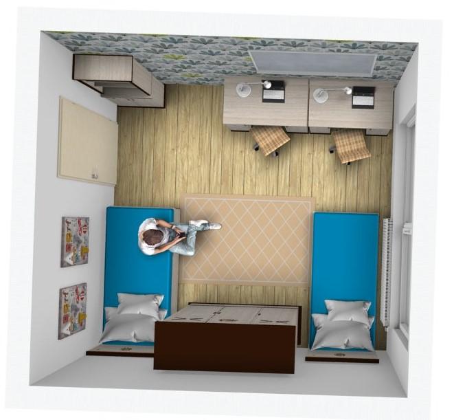 3682501473dfd 3D návrhy detských a študentských izieb