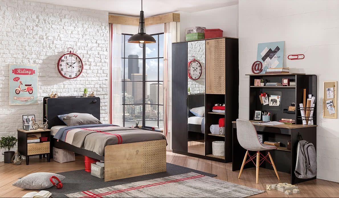 0b888e44d265 Študentský nábytok Black - Hezký detský nábytok