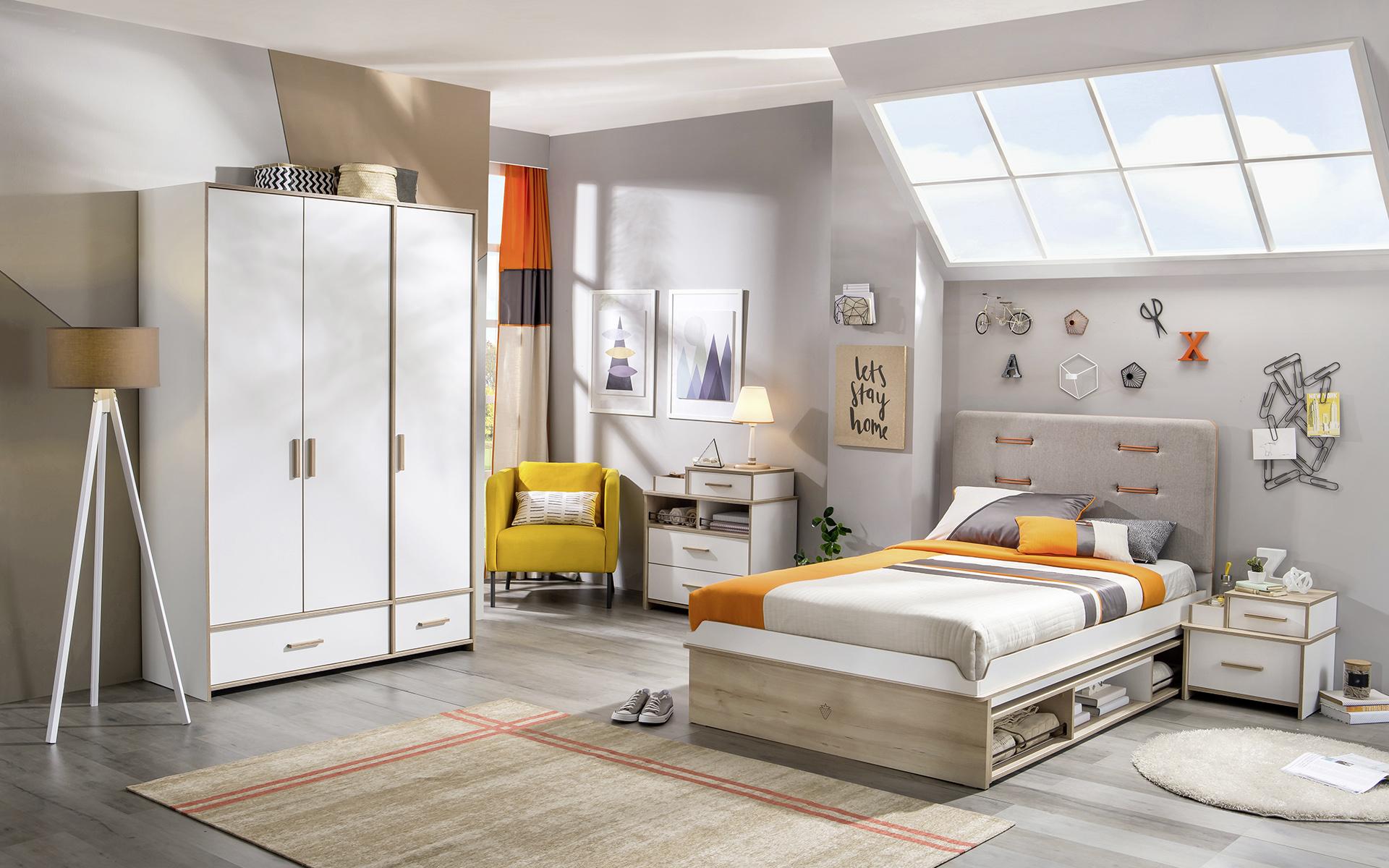 87ed94dbbcbb Detská izba v podkroví - Hezký detský nábytok